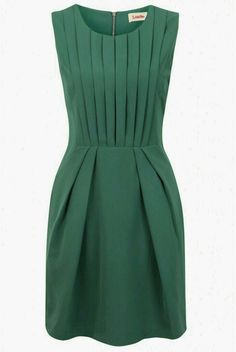 Green Pleat Renn Sleeveless Dress by Louche Featuring pleated fabric and a bold jewel tone, it instantly amps up the glam factor of any evening.Shop our huge range of in fashion Louche Dresses. Pretty Dresses, Beautiful Dresses, Jw Mode, Mode Hijab, Mode Inspiration, Mode Style, Work Fashion, Dress Me Up, Green Dress