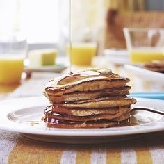 A lemon ricotta pancake  recipe from the new Jessica Seinfeld Cookbook.