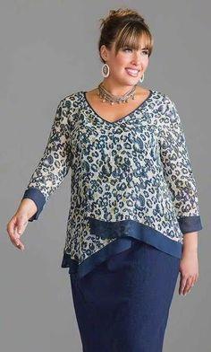 5dd18a0eeb85 Resultado de imagen para blusa para señoras gorditas | vestimenta ...