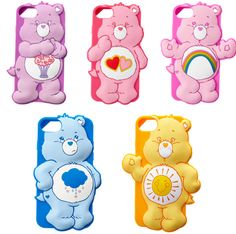 3D Cute iPhone 7 Plus Cases Cartoon Rainbow Bear Soft Silicone Case For iPhone 6 6S 7 / Plus Cover For girls For kids