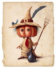 Mr. Pumpkin by Alexander Skachkov, via Behance