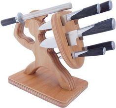 Pretty trick knife rack