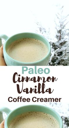 Paleo Cinnamon Vanilla Coffee Creamer Recipe