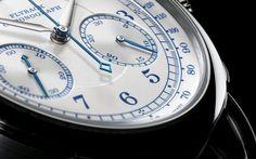 A. Lange 1815 Chronograph Boutique editon Ref 414.026 white gold - dial detail - Perpetuelle