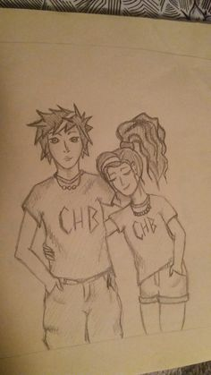 After a loooong time I did some quick doodling.. Hello Percabeth ♡ ^_^