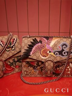 Embroidered and embellished with handmade patches, the new Gucci Dionysus shoulder bag from the Gucci Spring Summer 2016 collection, by Alessandro Michele.: