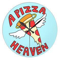 A Pizza Heaven Large Clock