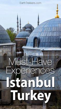 Istanbul Turkey: 22 Must-Have Experiences. Hagia Sophia, Blue Mosque, Golden Horn, Bosphorus River, where to eat, where to stay. #istanbul #turkey #unesco #bucketlisttravel