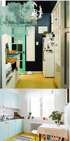 Yellow Kitchen Floors   Dine X Design
