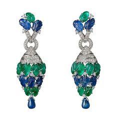 Beautiful TuttiFrutti earrings by Cartier!