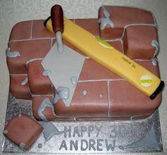 """Vaizdo rezultatas pagal užklausą """"bricklayer theme cake"""""""