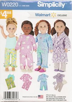 18 Doll Clothes Patterns American Girl