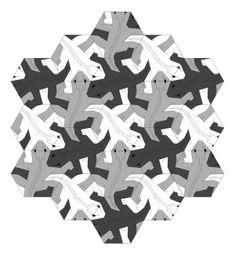 Los lagartos de Escher