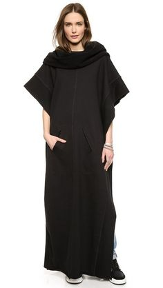 Oak Funnel Neck Maxi Poncho