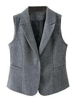 Futurino Women's Turndown Collar Sleeveless Tweed Suit Ve... https://www.amazon.com/dp/B01KTDMUHS/ref=cm_sw_r_pi_dp_x_pZt1ybVGQKNE3