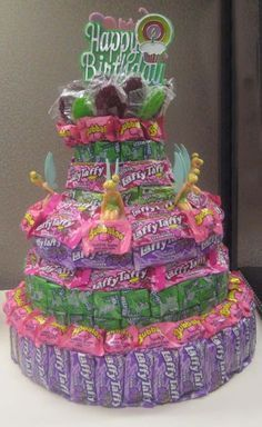 lots of candy cake ideas and u may hav a dentist appointment after u eat all of this.