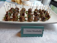 Asian Meatballs with Glaze - delicious and can be made the day before