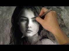 Beautiful Wistful Girl - Timelapse Art Portrait Video