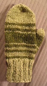 knit mitten pattern