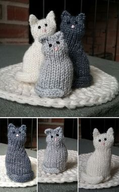 Little Window Cat - Free Instructions - Knitting is as easy as 3 . - Knitting for beginners,Knitting patterns,Knitting projects,Knitting cowl,Knitting blanket Animal Knitting Patterns, Afghan Crochet Patterns, Amigurumi Patterns, Baby Patterns, Easy Knitting Projects, Knitting For Beginners, Free Knitting, Baby Knitting, Knitting Toys