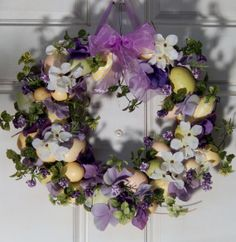 Easter Wreath  Spring Wreath  Easter Egg Wreath   by forevermore1, $69.00