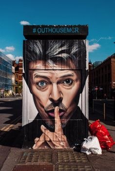 Places to Eat in the Northern Quarter, Manchester, Street Art, David Bowie Manchester Landmarks, Manchester Street, Manchester Travel, Manchester England, Street Wall Art, Urban Street Art, Street Art Graffiti, Urban Art, Manchester Northern Quarter
