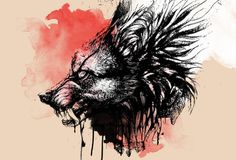 wolf art abstract - Google Search