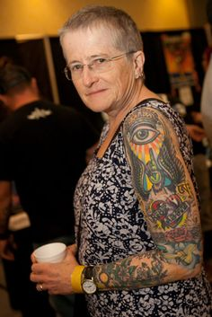 Beautiful. Taken at the 2012 Old School Tattoo Expo in St. Louis. Rad gran!