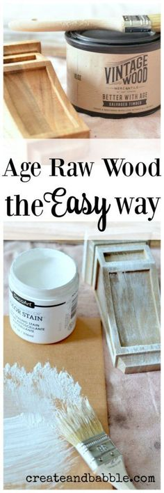How to Build a Shelf from Scrap Wood and Corbels plus an easy way to age new raw wood!