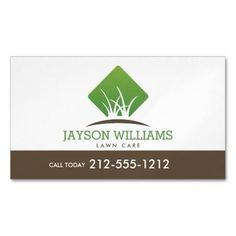 Modern Lawn Care/Landscaping Grass Logo White Business Card Magnet | Zazzle.com … | 1000 - Modern | 1000 Lawn Care Business Cards, Modern Business Cards, Professional Business Cards, Magnetic Business Cards, Pergola Pictures, Lawn Service, Lawn Maintenance, Landscaping Company, Standard Business Card Size