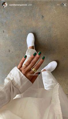 Nail Ring, Nail Manicure, Gel Nails, Acrylic Nails, Nail Polish, Cute Nails, Pretty Nails, Nail Envy, Minimalist Nails