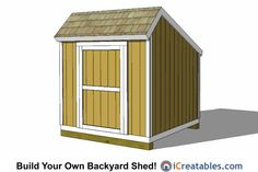 Build your own shed kit large size of storage as well prices backyard kits garden ki . small wood shed garden Shed Design Plans, Diy Shed Plans, Storage Shed Plans, Small Wood Shed, 8x8 Shed, Prefabricated Sheds, Shed Sizes, Garden Tool Shed, Build Your Own Shed