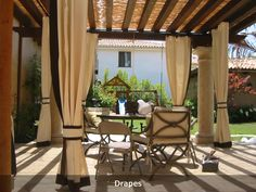 outdoor patio drapes | durable fabric used in awnings makes great outdoor all-weather drapes ...