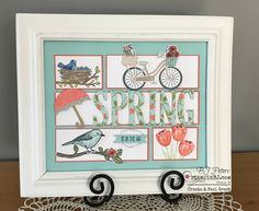 BJ Peters, Independent Stampin' Up! Homemade Frames, Collage Frames, Collages, Collage Ideas, New Home Cards, Scrapbook Frames, Shadow Box Art, Homemade Greeting Cards, Spring Pictures