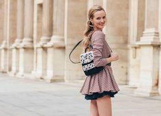 @tommyton 'Daria Strokous, Paris' @DariaStrokous wearing Dior! A cute and elegant outfit!