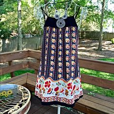 Gorgeous Black-yellow-red boho dres! Beautiful pattern with pretty back! Great contrast! Love this piece! Dresses