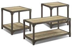 Accent and Occasional Furniture - Dryden Coffee and Two End Tables Package Sofa Tables, End Tables, Furniture Packages, Living Spaces, Living Room, Industrial Style, Industrial Design, Table Furniture, Dining Bench