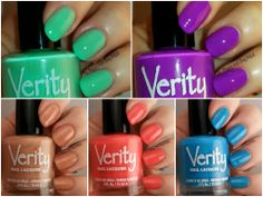 Verity Nail Lacquer Swatches And Review