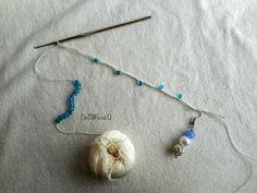 tutorial e spiegazioni per fare braccialetti multi-fili all'uncinetto con perline