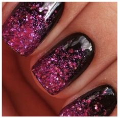 glittered manicures - Google Search