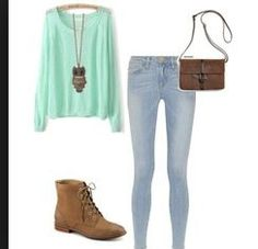 The bag,boots and necklace are so sweet. The jumper and jeans are so plain but with the added accessories it makes this outfit come together perfectly.