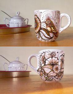 Hummingbird Henna Mug2 by cydienne.deviantart.com on @deviantART