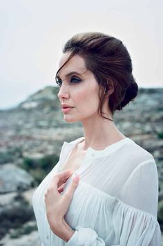 Angelina Jolie is the definition of beauty in this photo from DuJour Magazine.