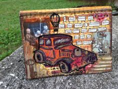 Jessica Sporn Designs: Old Timer Stencil Blog Hop and Tutorial stencils by StencilGirl