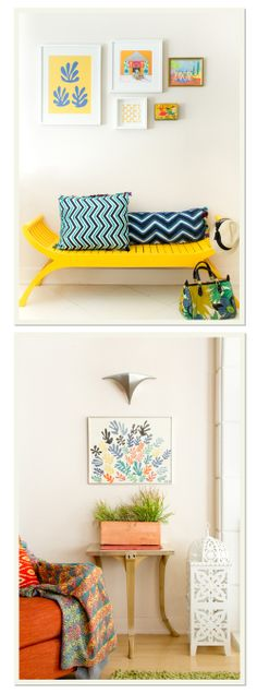 Yellow and Teal Patterns