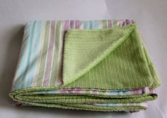 Spring or Easter Minky blanket: Pinks, purples, blues and greens. Perfect Easter gift for your little one.