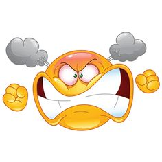 If you want to tell someone you're mad angry at them just send this smiley along and they'll get the message!