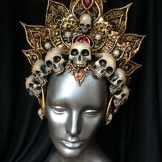 Elegant fierceness! Kali headdress commission, #skulls #crown