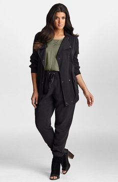 Mynt 1792 Lightweight Twill Jacket (Plus Size) available at #Nordstrom