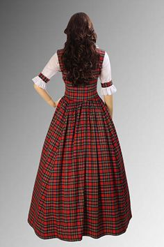 Scotish Traditional Clothing | Details about Scottish Tartan Two-Piece Traditional Dress Handmade in ...